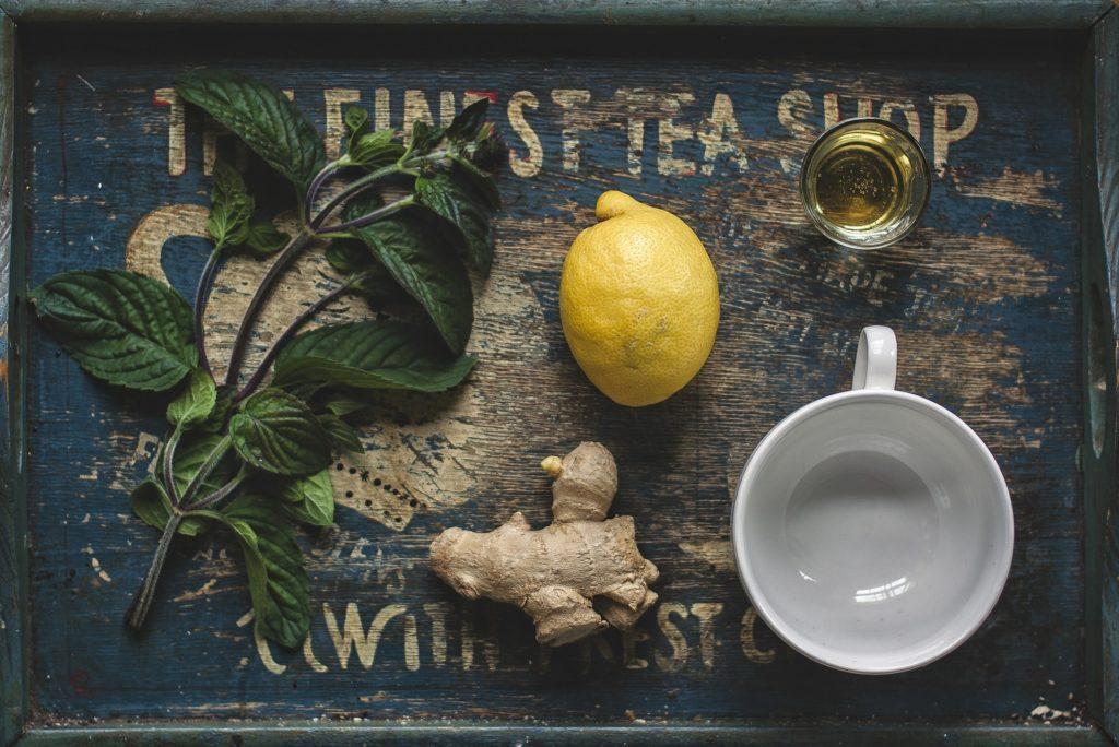 Мята,имбирь,лимон