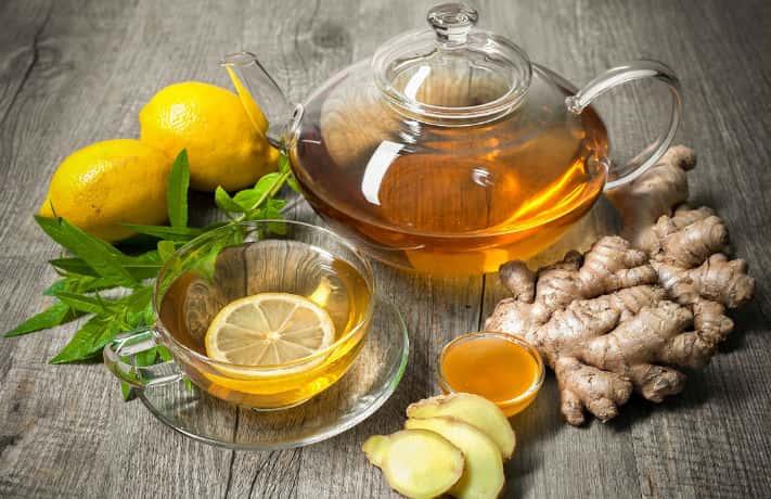 Чай с лимонами медом и имбирем
