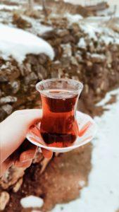 Турецкий стакан с каркаде