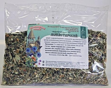 Монастырский чай в пакете