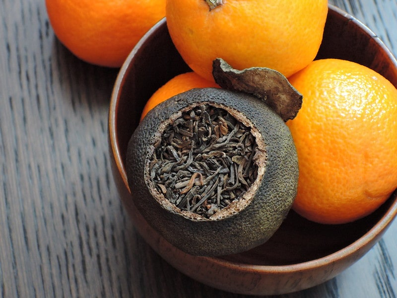 Чай Шу-пуэр в мандарине