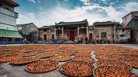 Приготовление пуэра в мандирине в Китае