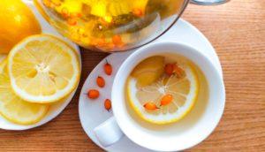 Чай с облепихой и лимоном