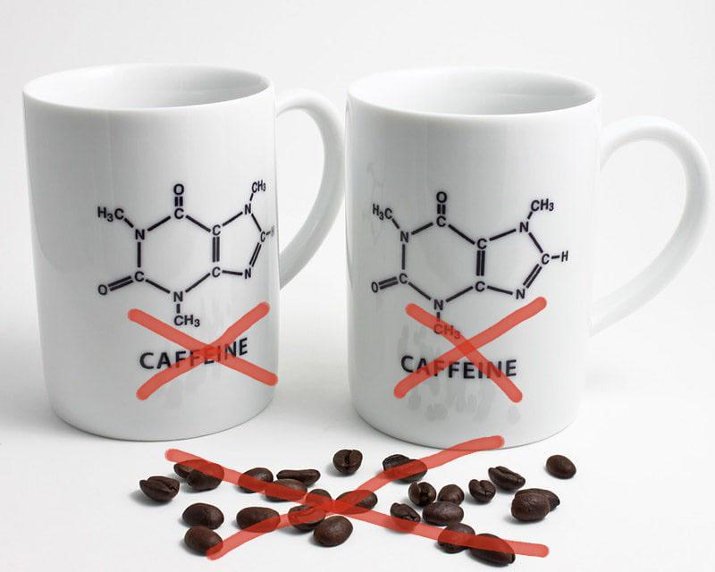 кружки и зерна кофе