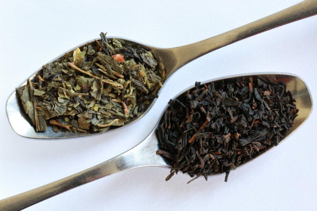 черный и зеленый чай (заварка)
