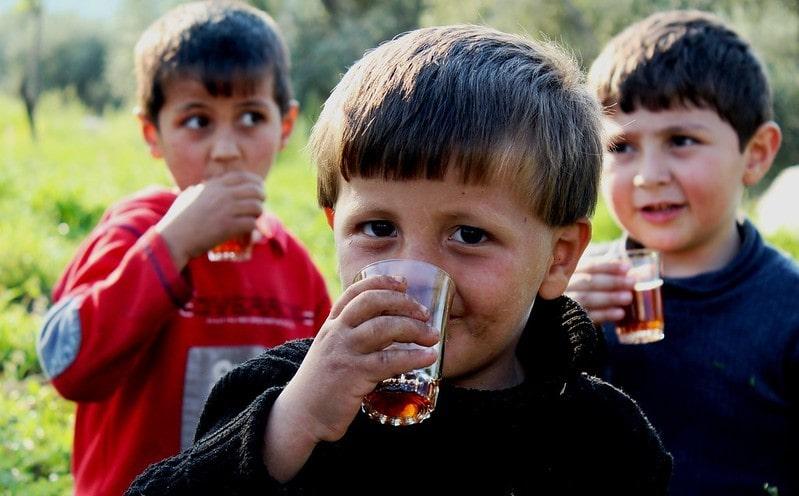 Дети пьют иван-чай