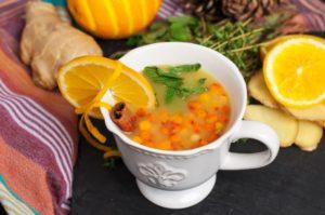 облепиховый чай с мятой и пряностями