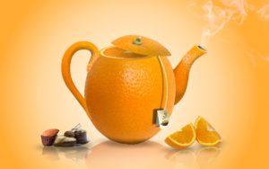 заварник в форме апельсина