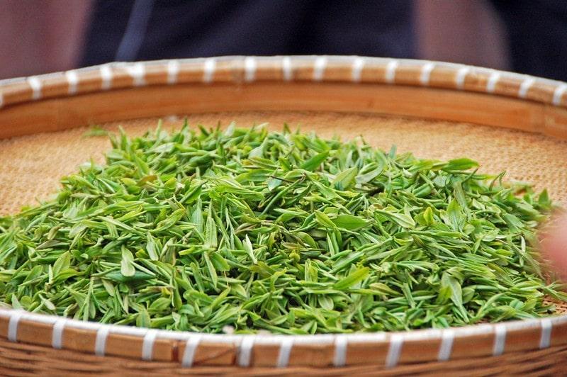 Сушка зеленого чая (листья)